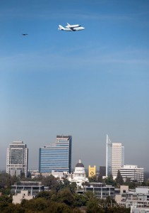Space Shuttle Endeavour Flyover